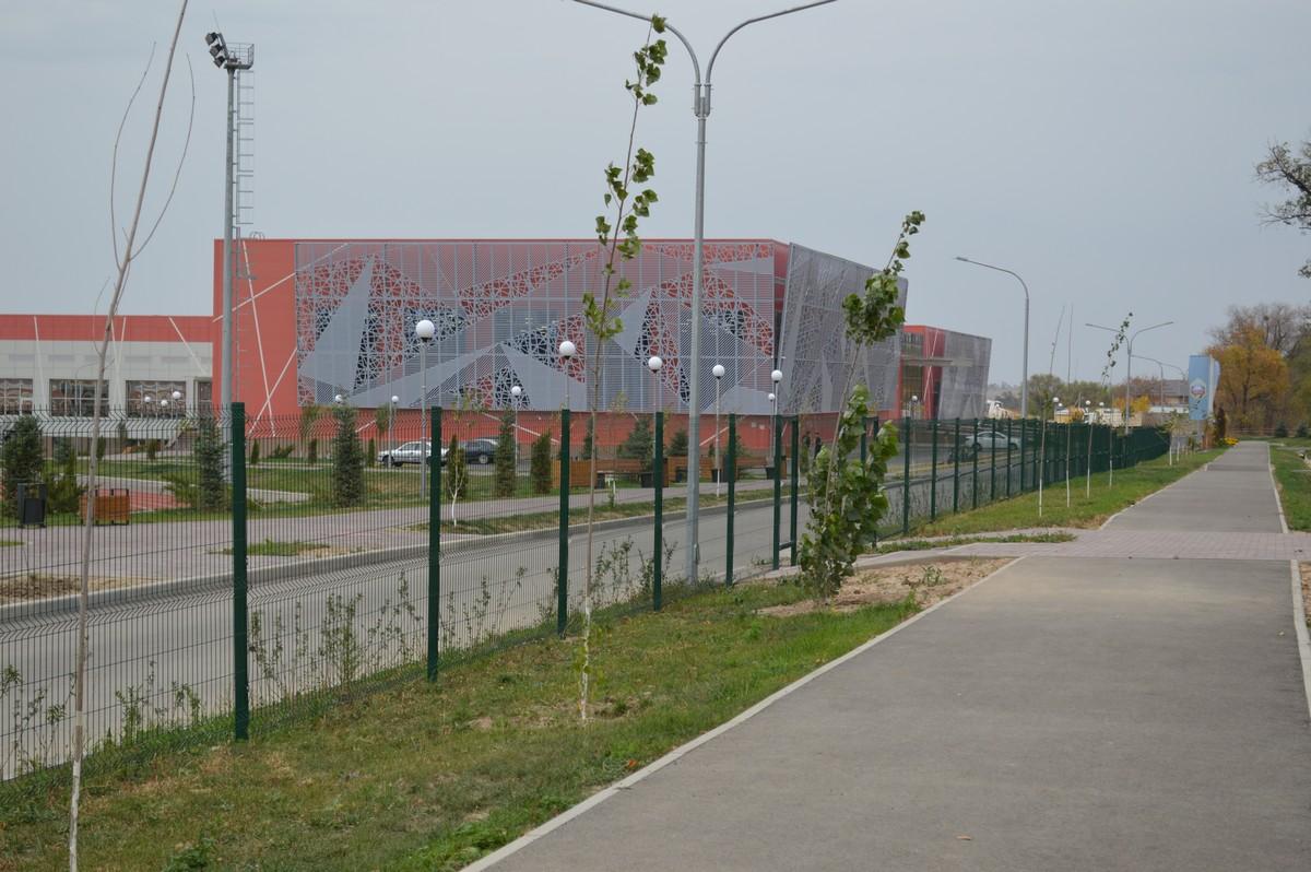 Ограждение 3д для спортивного комплекса УШКОНЫР