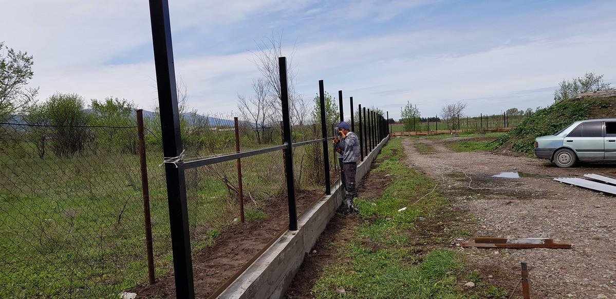 Забор из 3д сетки и профлиста г. Алматы